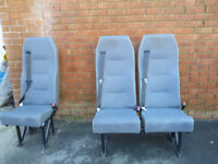 SINGLE VAN SEAT WITH SEAT BELTS CONVERTION