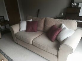 Two Marks & Spencer Sofas – Natural/Gold colour – 2 seater & 3 seater – Excellent Condition