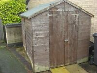 Shed. 8 x 6 tongue and groove with double doors. Good condition
