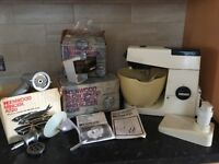Vintage Kenwood Chef A701A Food Processor, attachments and instructions