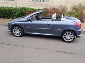 ** PEUGEOT 206 CC** IDEAL FIRST CAR** 2007 REG** 1.6CC** 1 LADY OWNER FROM NEW** FSH** 84K MILEAGE**