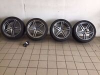 19 inch FOX MS 005 Alloy Wheels for Sale.. Originally in Carbon Grey.. Used on Vauxhall Insignia..