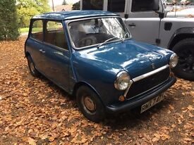 Classic Mini City NEW FULL MOT! rust free underneath new subframes!