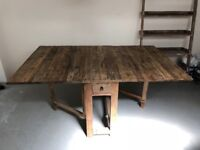 Lombok drop down rustic dining table