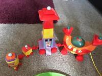 In the Night Garden Toys - Ninky Nonk, Train set and teddies