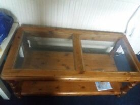 solid wooden coffee table good condition