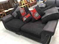 Black fabric sofa