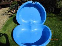 Apple shaped plastic - Two part paddling pool/sandpit