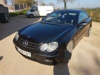 Mercedes CLK 220 cdi, diesel, black, automatic, good condition