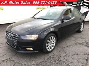 2013 Audi A4 2.0T, Auto, Leather, Sunroof, Only 83,000km