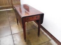 Small Georgian drop leaf dining or games table