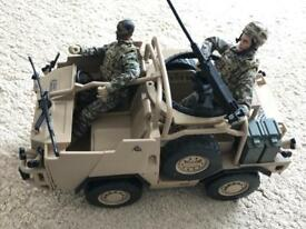 Toy Army tank plus 2 Action Men