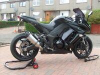 2013 Kawasaki Z1000SX 63 plate Black Very Low Miles