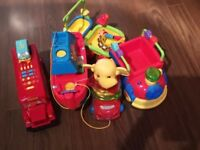 Toys, Bus, ship and elephant