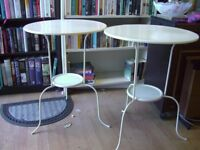 2 X IKEA LINDVED METAL BISTRO STYLE TABLES
