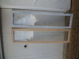 2 cupboard framed glass doors