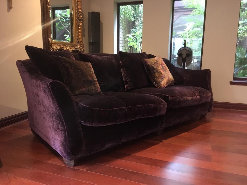 Large Purple luxury sofa