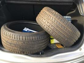 235/40ZR18 TYRES (pair) 6mm+ tread