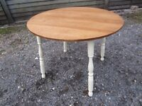Lovely Antique Oak Breakfast/Dining Table Painted Farrow & Ball