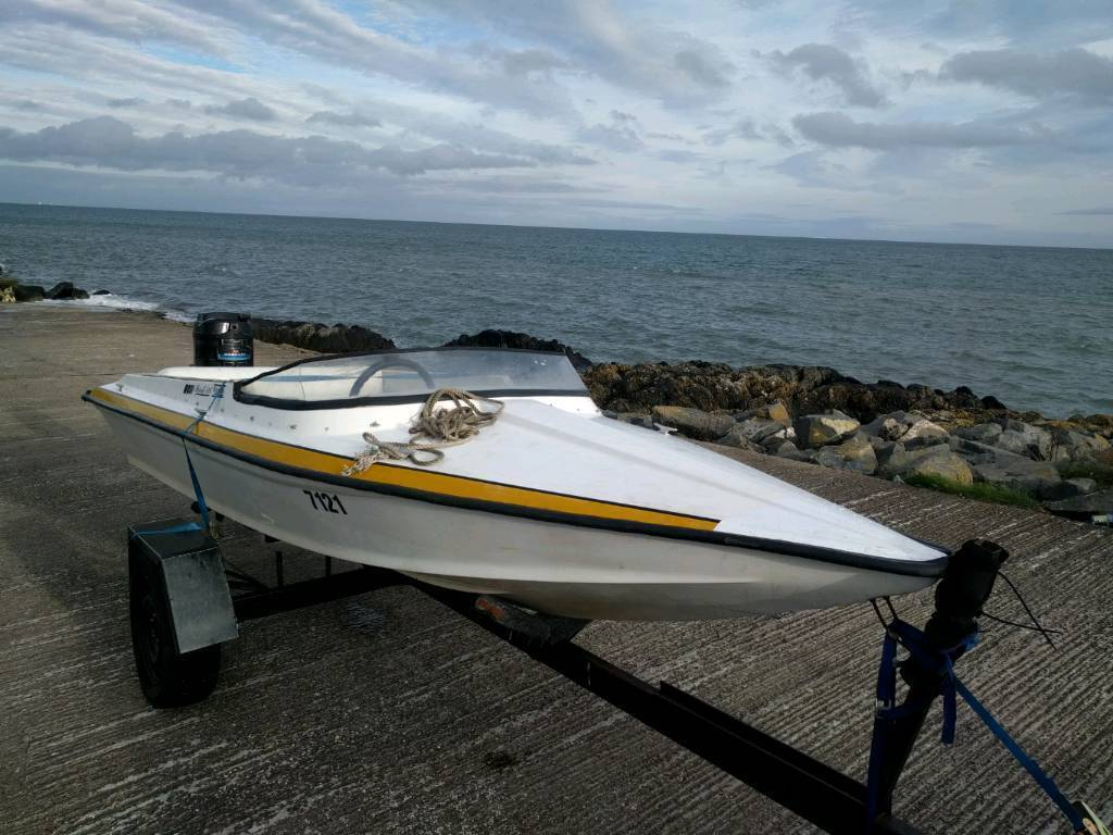 speed boat outboard and trailer offers or swap