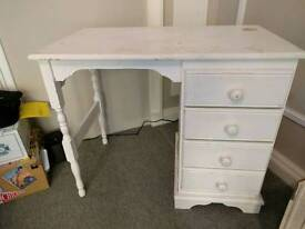 Shabby chic white dressing table