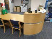 Reception office desk available £300