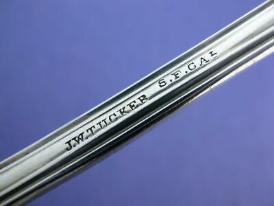 Waterlily by Vanderslice Sterling Silver Regular Fork 7 Rare California Silver