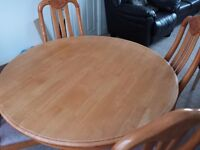 Dinning Table and 4 chairs-Pending Collection