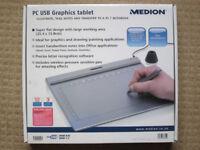 USB Graphics Tablet Pressure Sensitive - Medion MD 85637