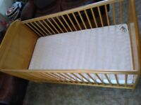 Baby Weavers Angelina cot bed.. Baby/child cot and bed in one with mattress