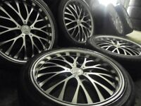 "18"" genuine bk deep dish bbs alloys wheels audi a4 a6 a8 a3 5x112 golf vw caddy t4 t3 transporter"