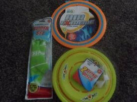 new unused , Glider set, air extreme flying ring & 2 flying discs all for £1
