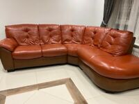 Large Corner Sofa & Swivel Chair