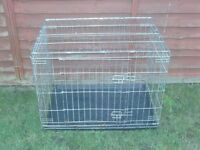 DOG CAGE MEDIUM WITH TRAY £18 BLACK OR SILVER