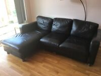 Leather sofa: FREE TO COLLECT TODAY!
