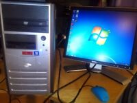 HP/DELL/IBM PC DUAL CORE/CORE2DUO/2-4GB RAM DVD-FREE WIFI READY TO USE.price from 25