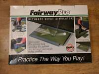 Golf aid fairway simulator