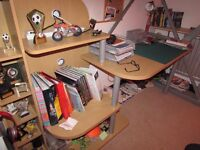 KIDS DESK & DISPLAY UNIT CAN BE USED FOR UNDER HIGH SLEEPER BED - Bed not incl VGC