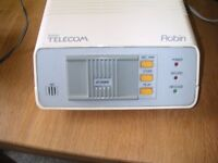 1980's vintage BT Robin Answering Machine with power supply and user guide.