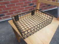 Metal trays / baskets for decorative planters unique patina industrial house furniture storage
