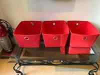 Set of 3canvas storage boxes