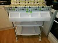 Baby bath + changing unit
