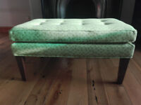 EX-DISPLAY Sofa com Club rectangluar footstool in imogen heath geometric spring green /free delivery