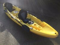 Double kayak slight mould deform on back seat reduced to clear