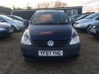 VOLKSWAGEN FOX 1.2 HATCHBACK 3DR 2007*IDEAL FIRST CAR*CHEAP INSURANCE *FULL SERVICE HIST*HPI CLEAR