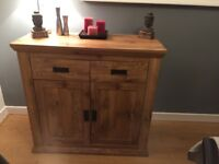 Dining Table - 5 Chairs - 3 Rustic Oak Wood Effect Sideboards