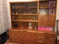 G Plan style display unit with lighting cupboard and drawers excellent condition
