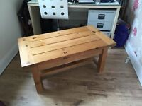 Solid reclaimed pine coffee table