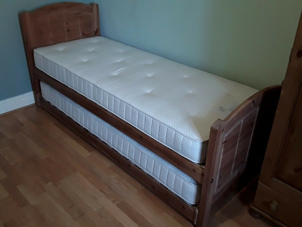 on sale e58a3 87eff Marks & Spencer Solid Pine Hideaway (Single / Twin / Double) Bed / with  Mattress | in Crewe, Cheshire | Gumtree
