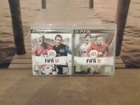 PS3 Games Fifa 11 and 12.